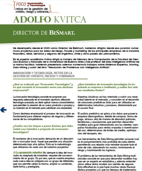 Innovación y tecnología, reto en la gestión de crédito, riesgo y cobranza