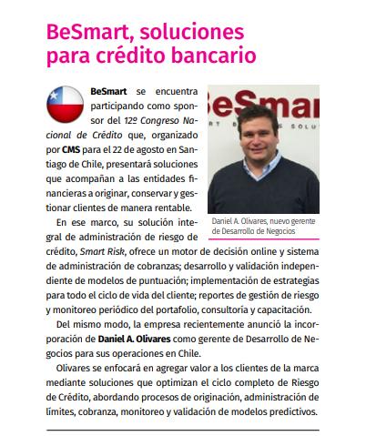 BeSmart, soluciones para crédito bancario