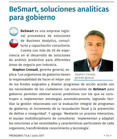 BeSmart, soluciones analíticas para gobierno